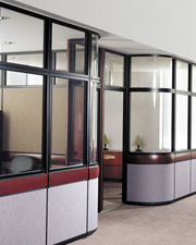 Curved Office Partition